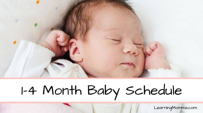 1-4 Month Old Baby Feeding And Sleeping Schedule