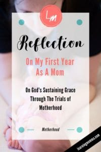 God's Grace in Motherhood, God's strength for mothers, trial as a mom
