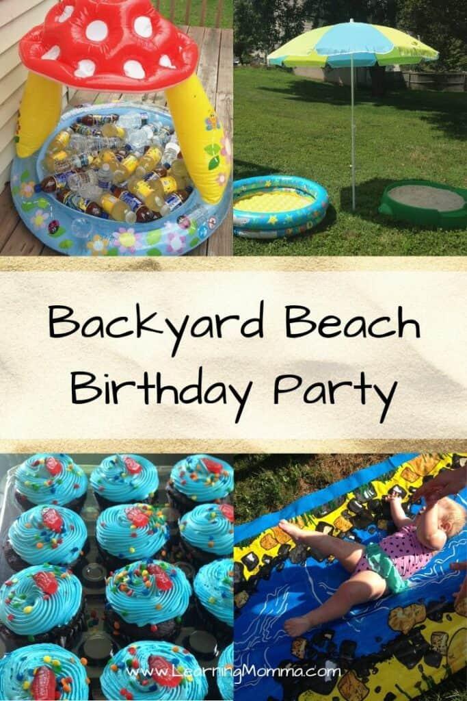 1st Birthday Party Themes For Summer - Backyard Beach