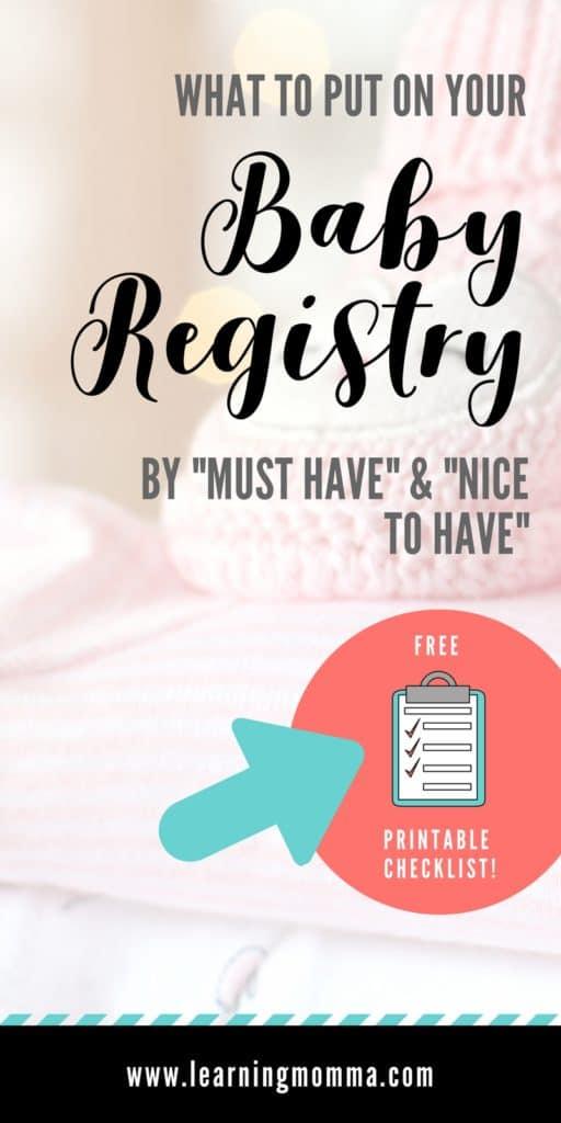 Minimalist Baby Registry Checklist
