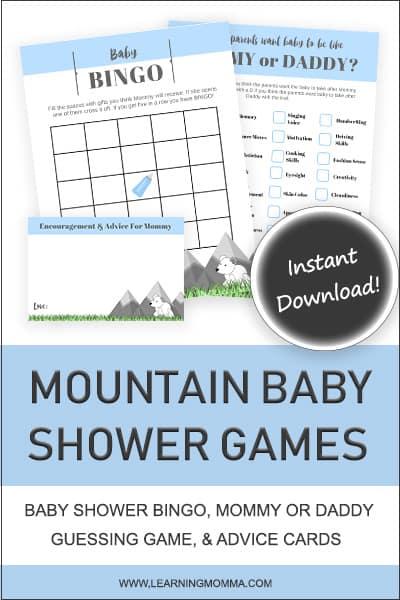 boy baby shower games