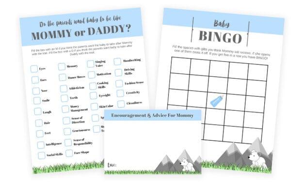 Mountain Theme Boy Baby Shower Games To Print