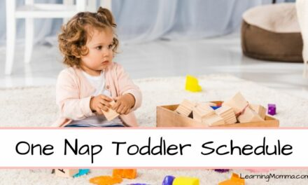 1 Year Old Schedule Sample – Through 2 Years Old