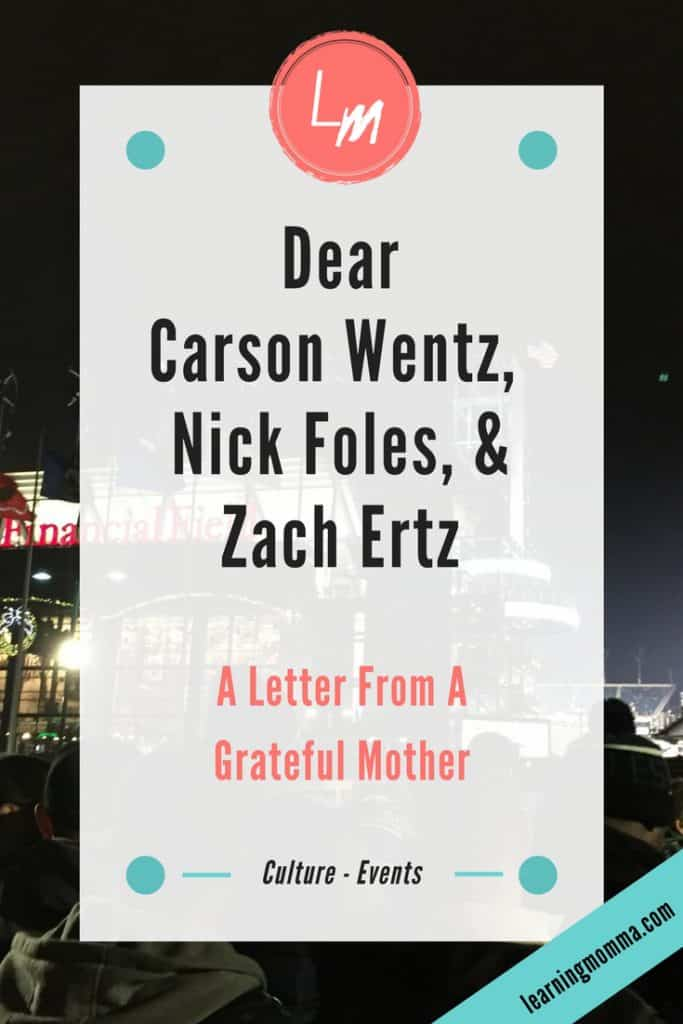 Dear Eagles NFL Players Title