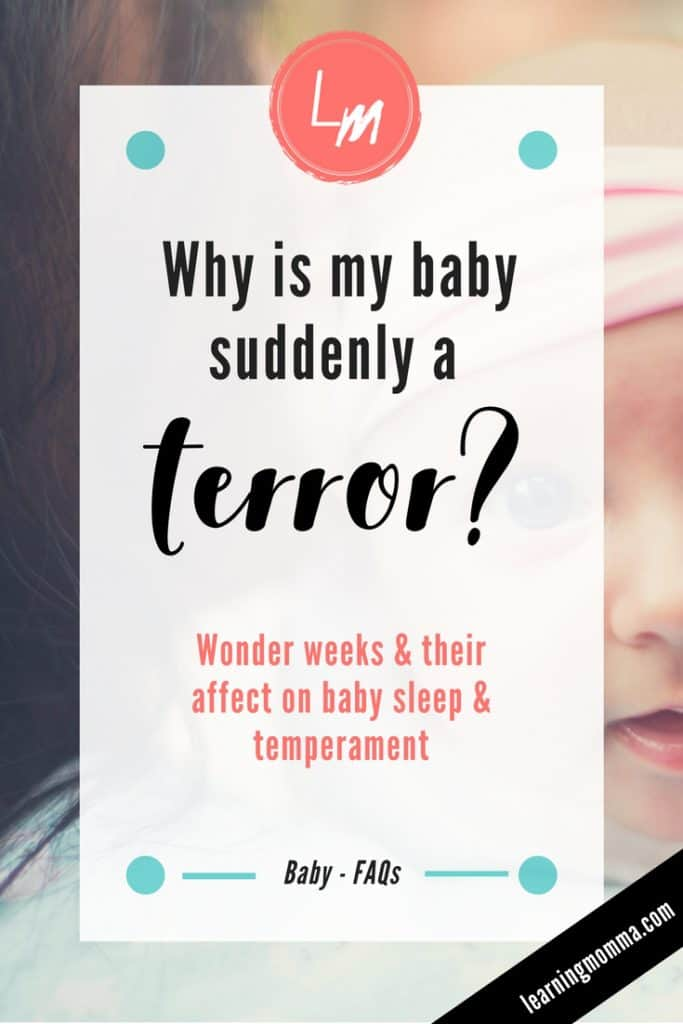 wonder weeks, developmental leaps, baby suddenly fussy, baby suddenly won't sleep