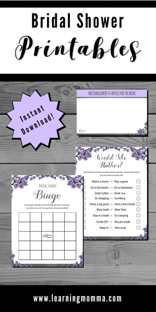 Bridal Shower Games To Print - Would She Rather?