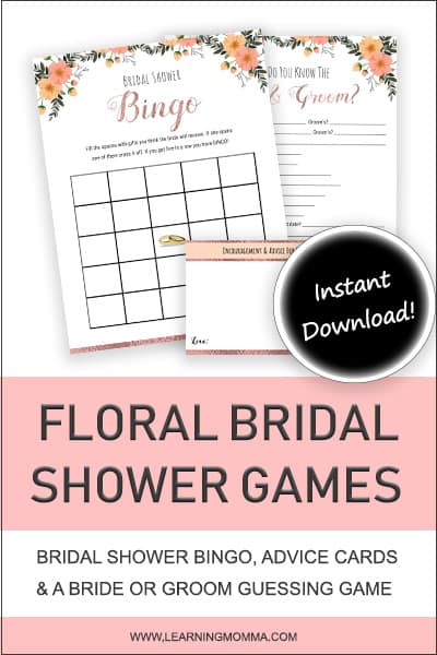 Bridal Shower Games To Print - Rose Gold