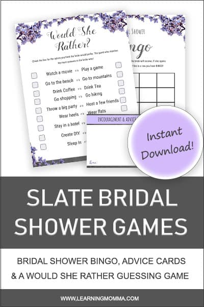 Would She Rather Bridal Shower Game Printable