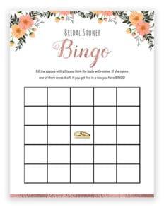 wedding bingo ideas