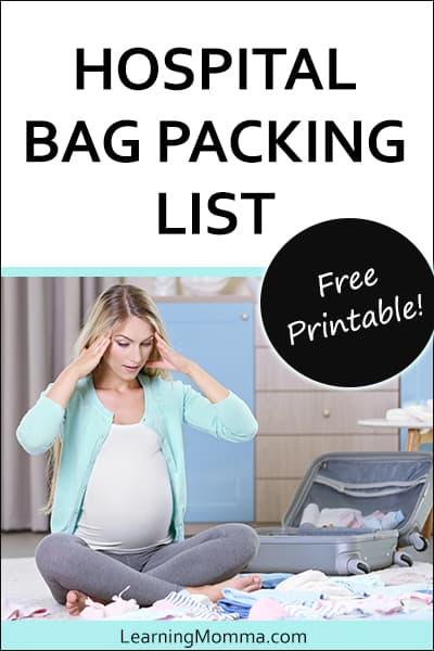 Newborn Baby Hospital Bag Checklist