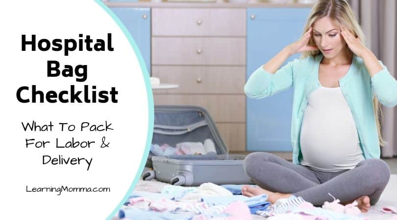 photo regarding Printable Hospital Bag Checklist for Labor and Delivery named Printable Medical center Bag List For Labor And Shipping and delivery