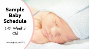 4 week old baby schedule