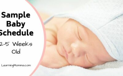 Newborn Schedule Sample: 2-5 Week Old Baby Sleep Routine