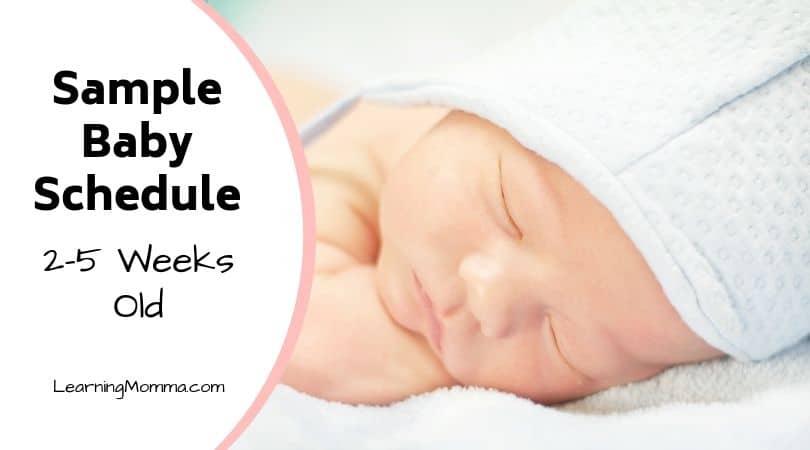 Newborn Schedule Sample: 2-5 Week Old Baby Sleep Routine