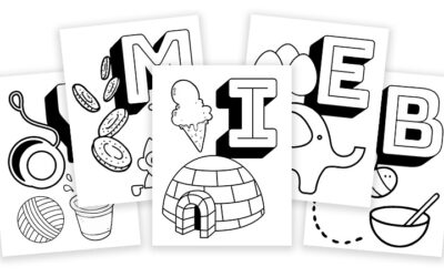 Free Printable Coloring Pages – Alphabet Learning With Objects