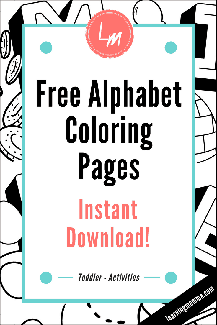 printable coloring pages for alphabet learning