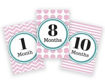 Baby Month Stickers Alternative 2