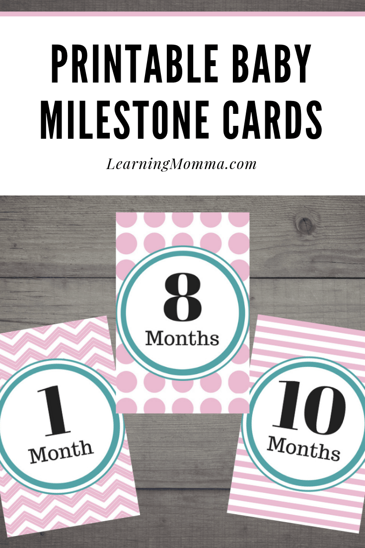 Baby Milestone Cards Printable