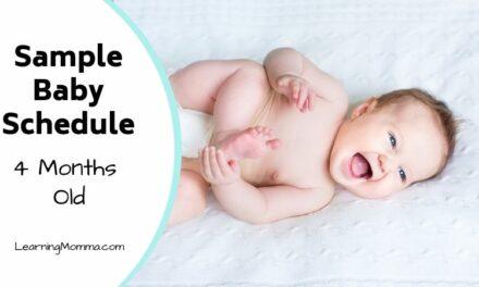 4 Month Old Schedule Sample – Sleep, Feeding, & Activity Routine