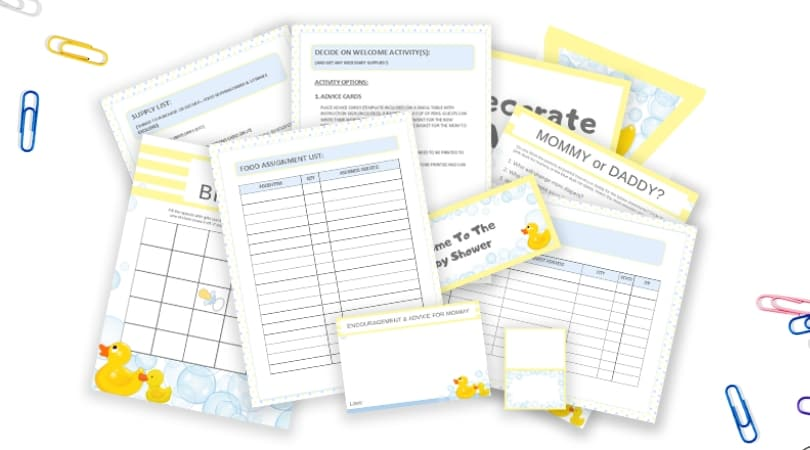 How To Plan A Baby Shower | The Complete Printable Baby Shower Kit