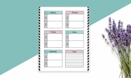 Free Stay At Home Mom Weekly Task Planning Printable