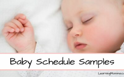 Baby Sleep Schedule Samples From Birth Through 1 Year Old