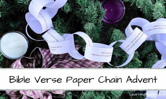 DIY Christmas Countdown For Kids – Bible Verse Advent Calendar Chain