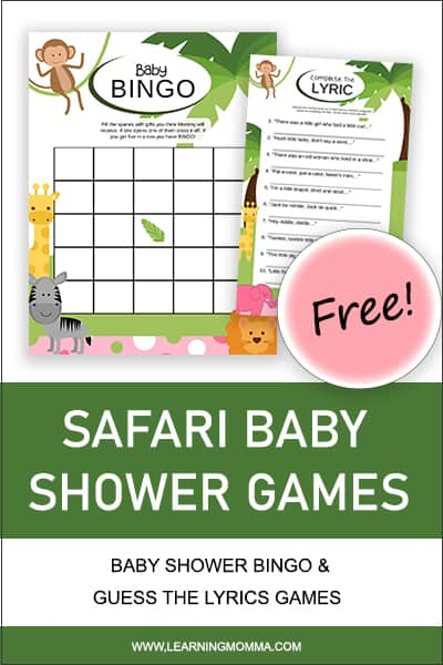 baby shower games printable with answer key