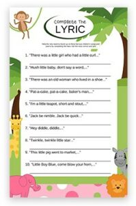baby shower games pdf