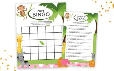 Free Printable Baby Shower Games With Answer Key – Baby Girl Safari