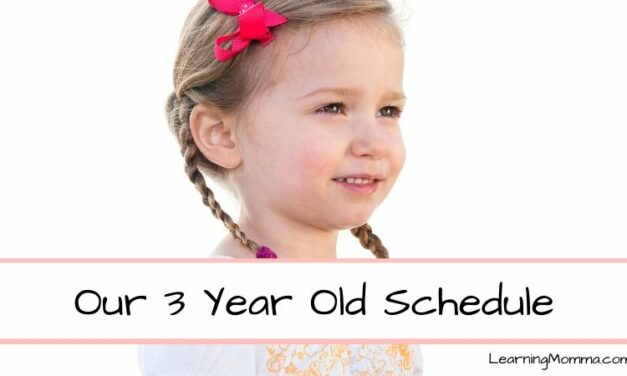 Our 3 Year Old Schedule – Daily Sleep, Activity, Meals & More!