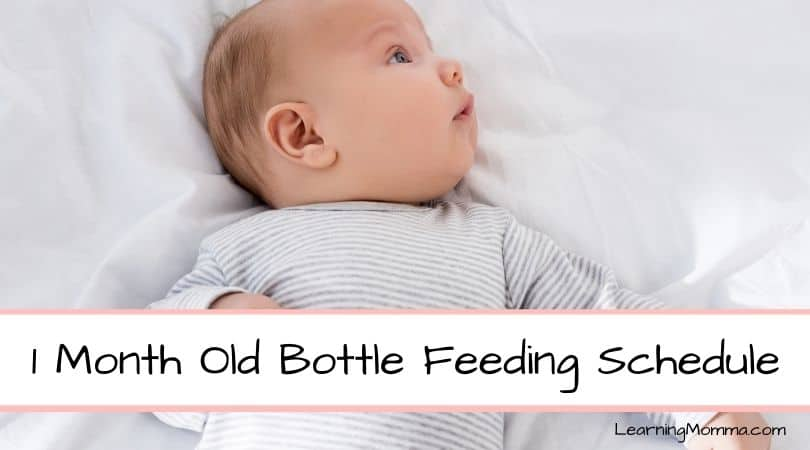 Our 1 Month Old Bottle Feeding Schedule (4 To 8 Weeks Old)