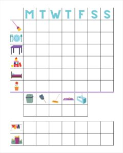 Picture of a kids chore chart