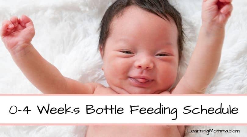 Our Newborn Bottle Feeding Schedule – Month 1 (0-4 weeks)